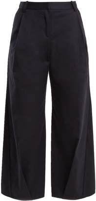Palmer Harding PALMER/HARDING Serra wide-leg cropped cotton-twill trousers