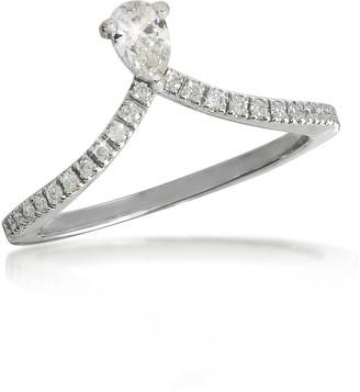 Forzieri White Gold Drop Shaped Diamond Ring
