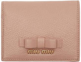 Miu Miu Pink Bow French Wallet