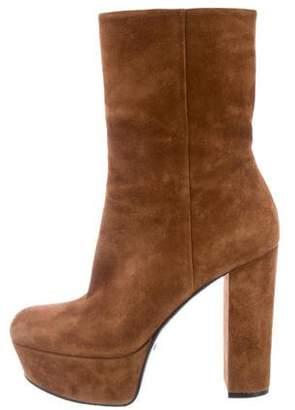 Gucci Platform Suede Ankle Boots