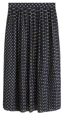MANGO Polka-dot pleated skirt c5377fa88