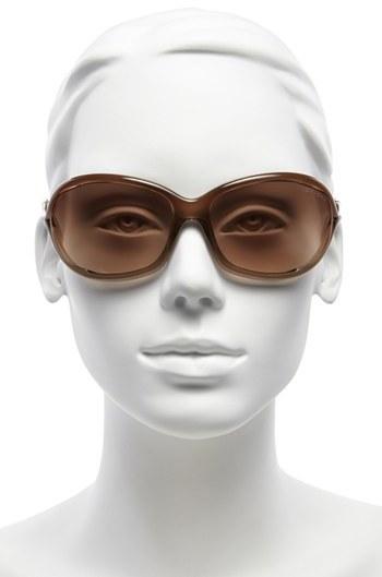 Tom Ford Women's 'Jennifer' 61Mm Oval Frame Sunglasses - Brown Gradient/ Light Orange