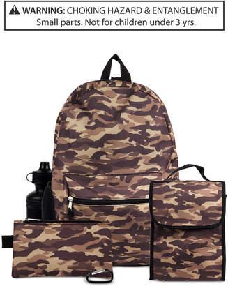 Fab Little & Big Boys 5-Pc. Camo-Print Backpack & Accessories Set