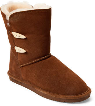 BearPaw Hickory Abigail Real Fur Toggle Boots