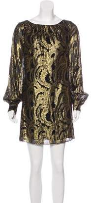 Milly Metallic Cocktail Dress