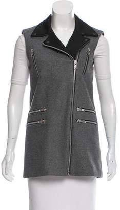 American Retro Wool Contrast-Accented Vest