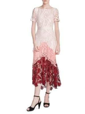 Maje Romarin Tiered Lace Dress