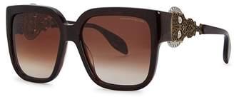 Alexander McQueen Skull-embellished Square-frame Sunglasses