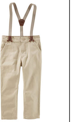 Osh Kosh Oshkosh Suspender Khaki Pants - Toddler Boys