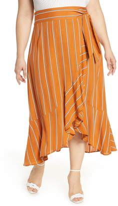 Leith Flowy Wrap Midi Skirt