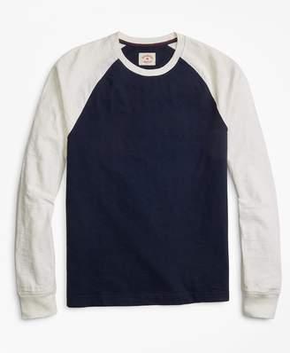 Brooks Brothers Slub Cotton Jersey Baseball T-Shirt