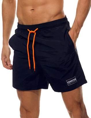 Trunks Cocobla Men's Quick Dry Short Swim Beach Shorts with Mesh Lining Pockets