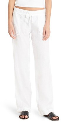 Women's Michael Stars Linen Wide Leg Pants $138 thestylecure.com