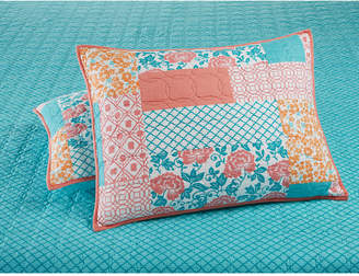 Martha Stewart Collection Closeout! Collection Flower Patch 100% Cotton Quilted Standard Sham, Created for Macy's