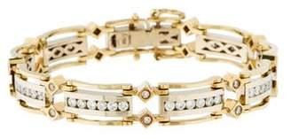 18K Diamond Two Tone Link Bracelet