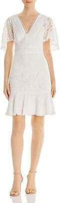 Eliza J Mixed-Lace Dress