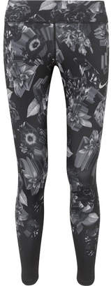Nike Epic Lux Printed Stretch Leggings - Black