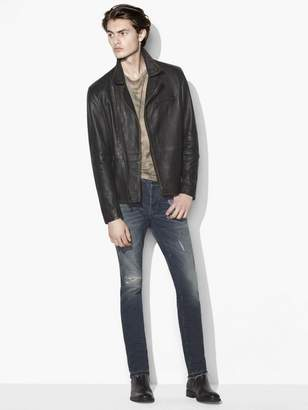 John Varvatos Distressed Biker Jacket