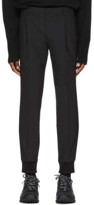 Wooyoungmi Black Wool Cuff Trousers