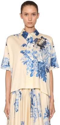 Antonio Marras Floral Print Light Cotton Shirt