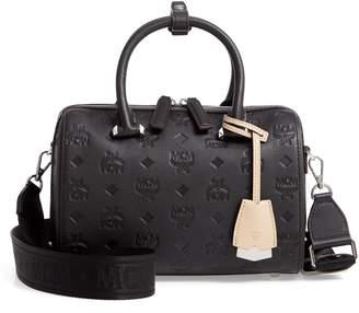 MCM Essential Monogram Leather Satchel