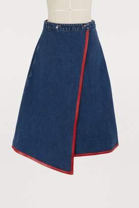 Acne Studios Denim wrap skirt