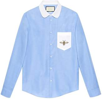 Gucci Cotton Duke shirt with embroidery