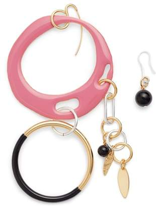 Diane von Furstenberg Asymmetrical Charm Earrings