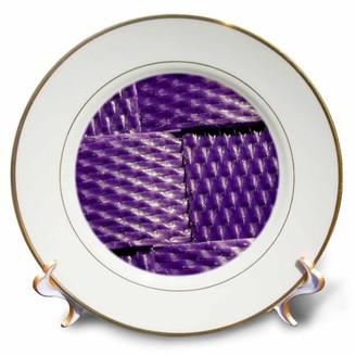 3dRose Image of Purple Interwoven Plastic - Porcelain Plate, 8-inch