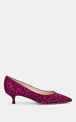 Barneys New York Women's Leopard-Print Suede Pumps - Purple