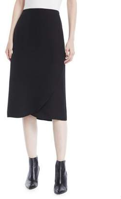 Valentino A-Line Silk Cady Couture Tulip-Hem Skirt