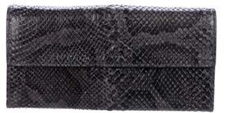 Bottega Veneta Long Snakeskin Wallet