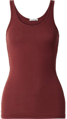 James Perse The Daily Ribbed Stretch-supima Cotton Tank - Claret
