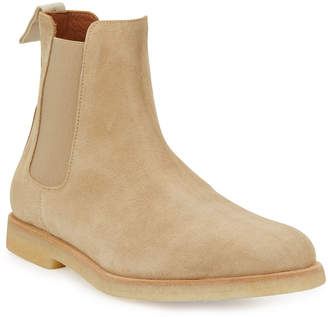 Common Projects Calf Suede Chelsea Boot, Tan