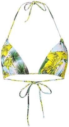 Versace leaf print bikini