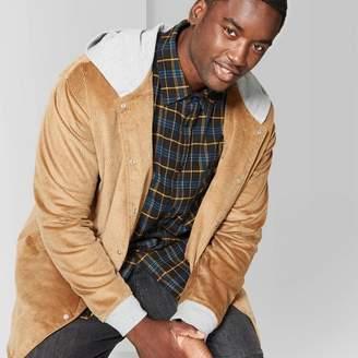 Original Use Men's Big & Tall Casual Fit Longsleeve Corduroy Hooded Shirt Jacket - Original UseTM - Dapper Brown