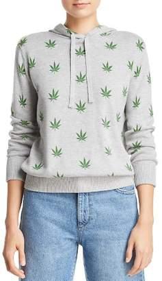 Aqua Plant Print Hooded Sweater - 100% Exclusive