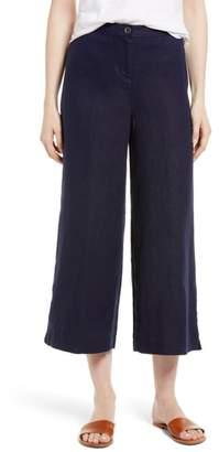 Eileen Fisher Wide Leg Organic Linen Pants