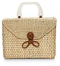 Poolside Women's La Scatola Woven Wicker Top Handle Box Bag