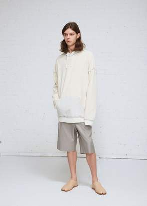 Maison Margiela Raw Terry Oversize Hooded Sweatshirt