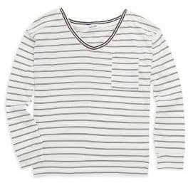 Splendid Girl's Stripe Long-Sleeve Top