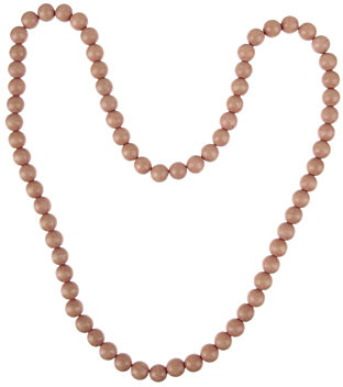 Stained Wood Bead Necklace