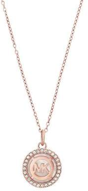 Michael Kors Mother-of-Pearl Rose Goldtone Pendant Necklace
