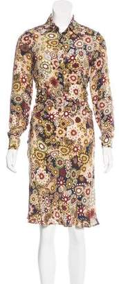 Barbara Bui Floral Silk Dress