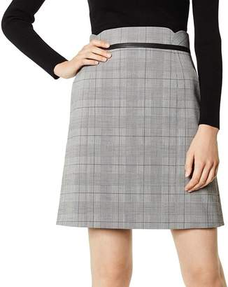 Karen Millen Glen Plaid A-Line Skirt