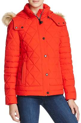 Andrew Marc Tess Faux Fur Trim Pyramid Down Coat