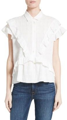 Women's Iro Ruffle Cotton Top $265 thestylecure.com