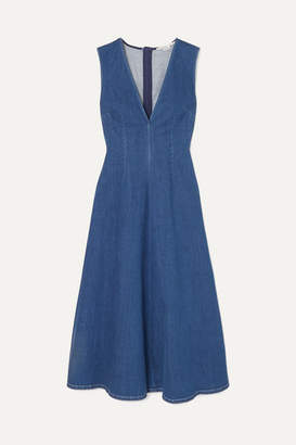Stella McCartney Denim Midi Dress - Blue