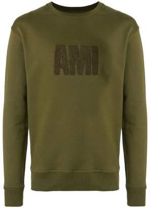 Ami Alexandre Mattiussi crewneck sweatshirt big Ami embroidered patch