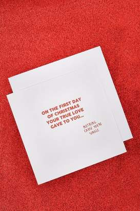 boohoo 'On the First Day Of Christmas' Card